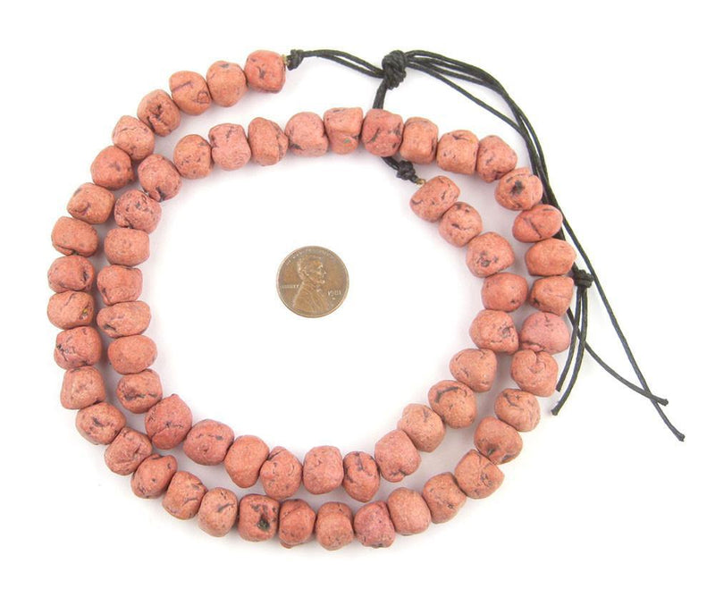 Rouge Red Moroccan Pottery Beads (Chunk) - The Bead Chest