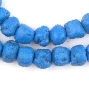 Deep Blue Moroccan Pottery Beads (Chunk) - The Bead Chest