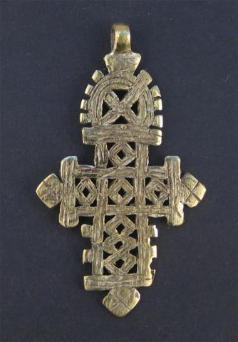 Image of Ethiopian Coptic Cross Pendant (Large) - The Bead Chest