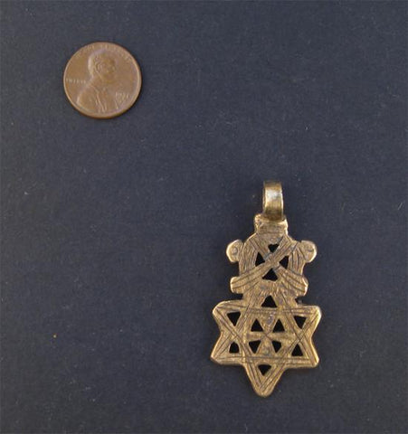 Image of Ethiopian Falasha Star of David (Small) - The Bead Chest