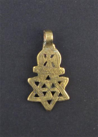 Image of Falasha Star of David w/ Crown (Small) - The Bead Chest