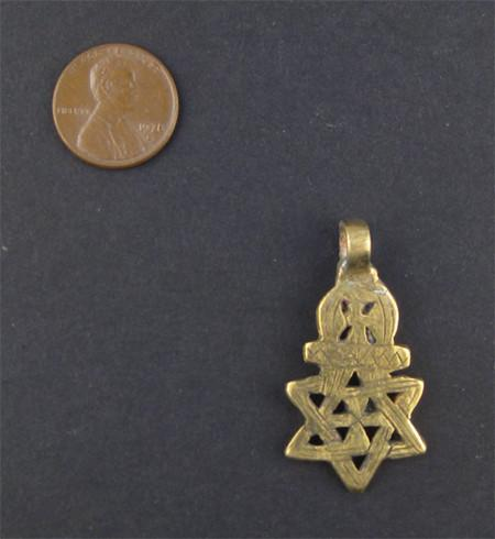 Falasha Star of David w/ Crown (Small) - The Bead Chest