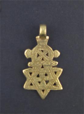 Image of Falasha Star with Crown (Small) - The Bead Chest