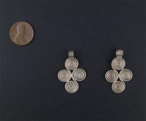 Image of Ethiopian Four Leaf Ornament (21x33mm) - The Bead Chest