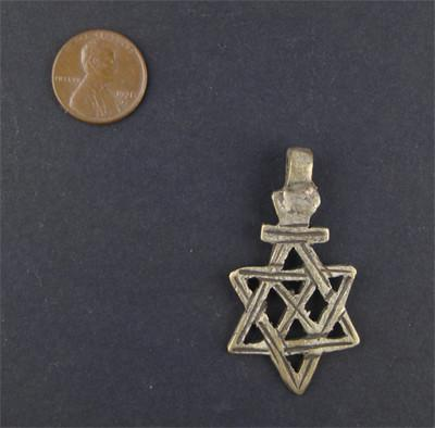 Ethiopian Falasha Star (Small) - The Bead Chest