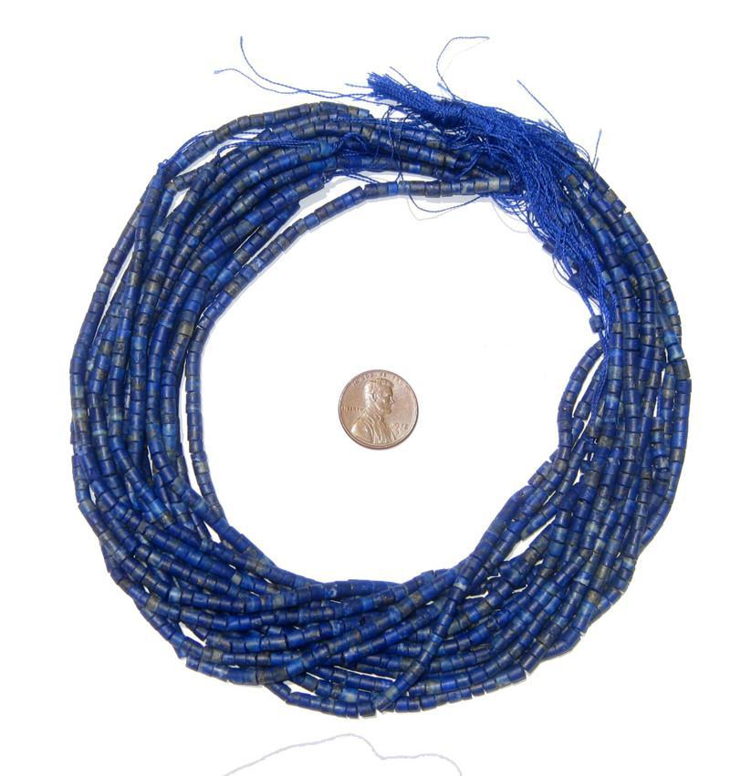 Lapis Lazuli Cylinder Beads - The Bead Chest