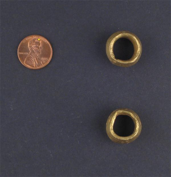 Brass Ethiopian Wollo Rings (Set of 2) - The Bead Chest