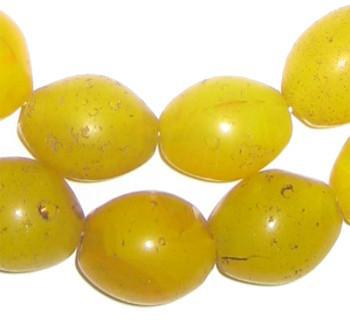 Yellow Tomato Beads (19x16mm) - The Bead Chest