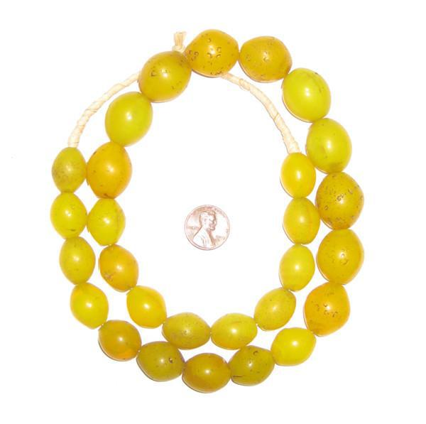 Yellow Tomato Beads (19x16mm)
