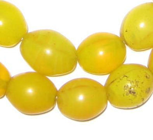 Yellow Tomato Beads (15x14mm) - The Bead Chest