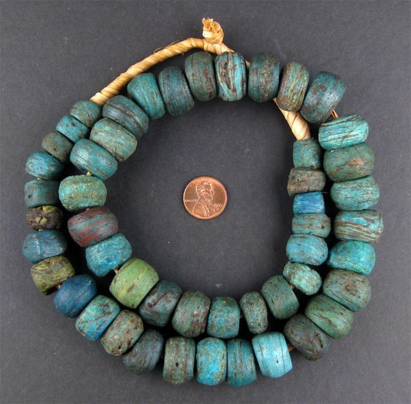 Antique Blue Hebron Kano Beads - The Bead Chest