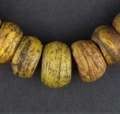 Antique Yellow Hebron Kano Beads (One of a Kind) - The Bead Chest
