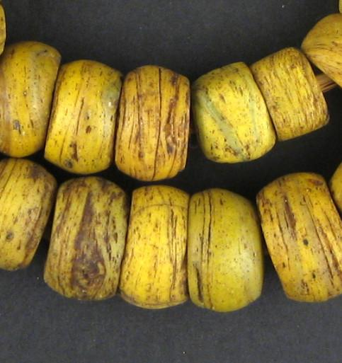 Antique Yellow Hebron Kano Beads - The Bead Chest