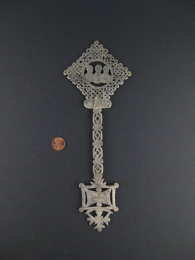 AWAITING REVIEW: Ethiopian Coptic Ceremonial Hand Cross - The Bead Chest