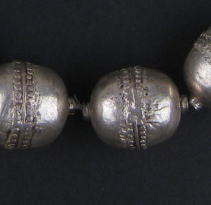 Jumbo Artisanal Ethiopian Silver Beads (Strand) - The Bead Chest