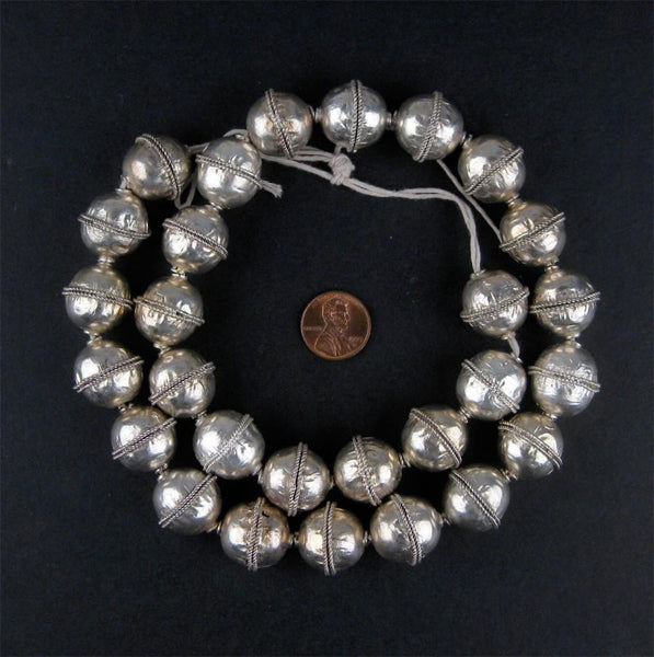 Artisanal Ethiopian Bicone Metal Beads (Large) - The Bead Chest