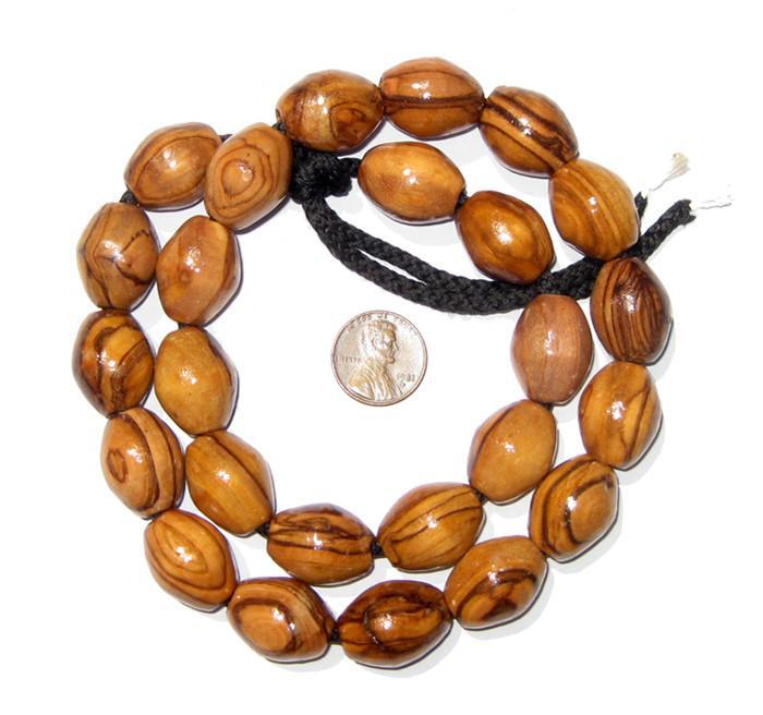 Authentic Olive Wood Beads from Bethlehem (20x16mm) - The Bead Chest
