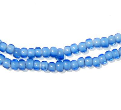 Sky Blue White Heart Beads (4mm) - The Bead Chest