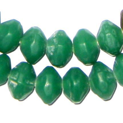 Emerald Green Vaseline Beads - The Bead Chest
