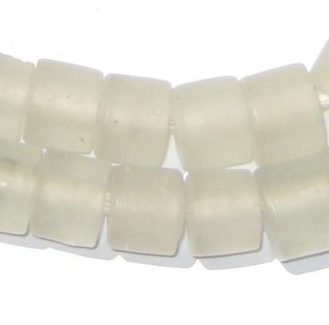 Clear Recycled Glass Beads (Tabular) - The Bead Chest