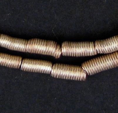 White Metal Coil Beads - The Bead Chest
