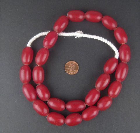 Image of Ethiopian Red Amber Resin Beads - The Bead Chest
