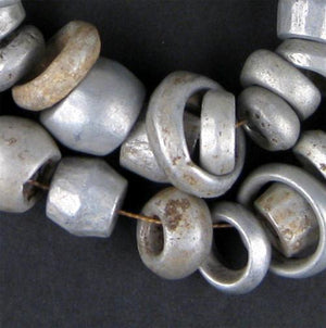 Old Mursi Recycled Aluminum Beads - The Bead Chest