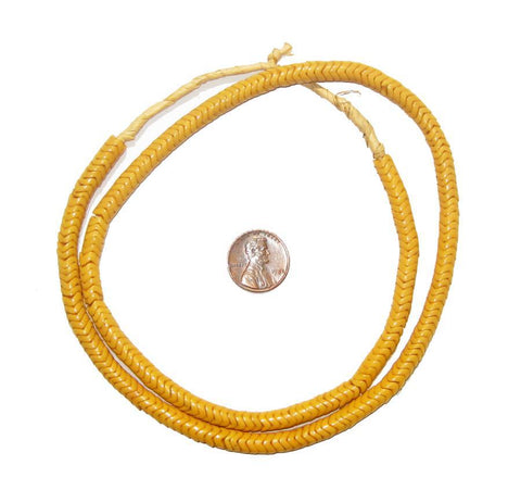 Mango Orange Glass Snake Beads (6mm) - The Bead Chest