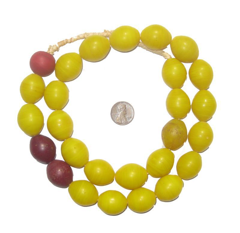 Yellow Tomato Beads (24x20mm) - The Bead Chest