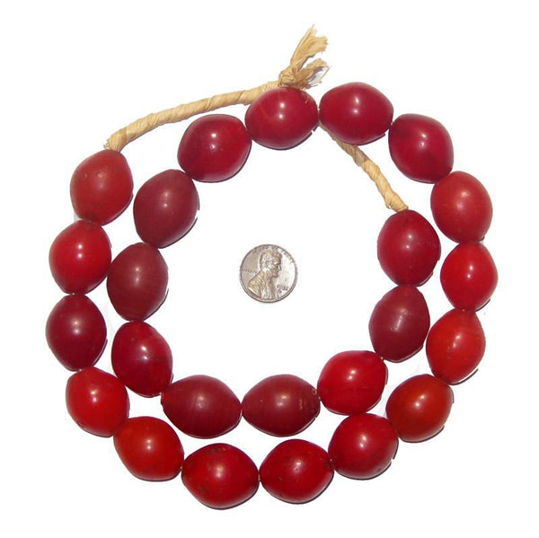 Red Tomato Beads (23 x 20mm)