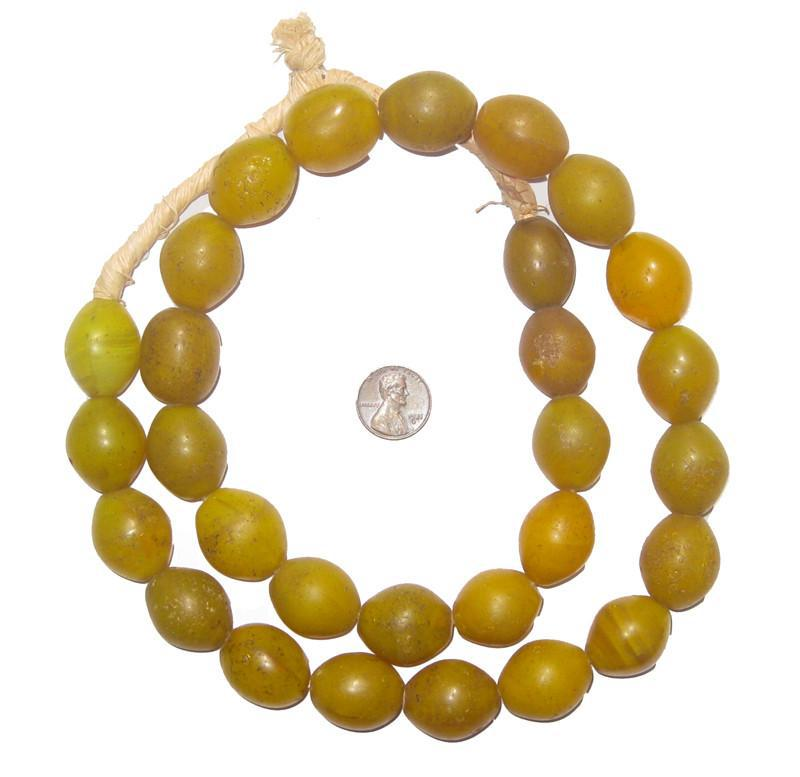 Yellow Tomato Beads (22 x 20mm) - The Bead Chest