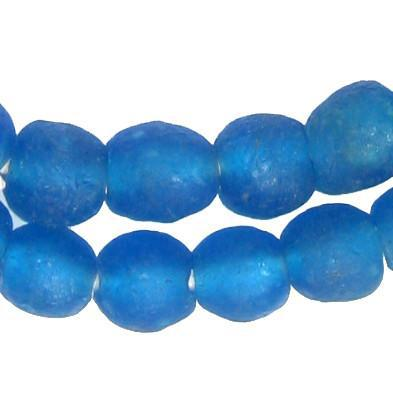 Azul Recycled Glass Beads (11mm) - The Bead Chest