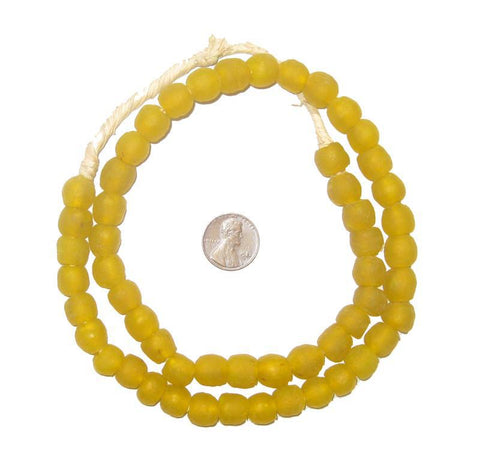 Image of Sunflower Yellow Recycled Glass Beads (11mm) - The Bead Chest