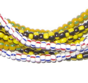 Wholesale Lot of Ghana Chevron Beads (4 Strands) - The Bead Chest