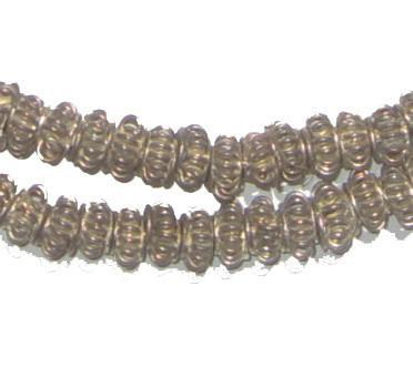 Handmade White Metal Coil Lantern Beads - The Bead Chest