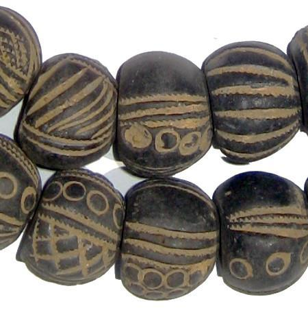 Mali Clay Spindle Beads (Gumdrop) - The Bead Chest