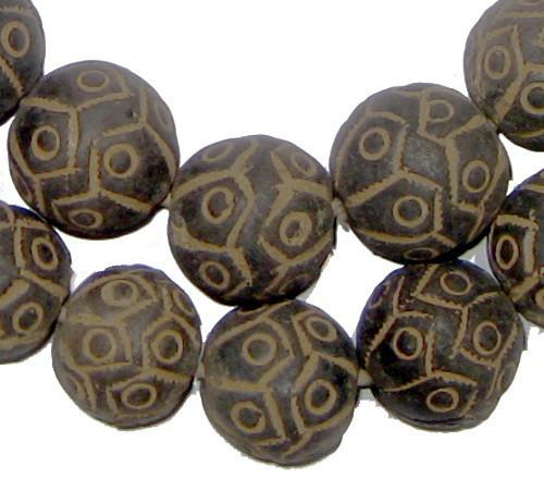 Mali Clay Spindle Beads (Round) - The Bead Chest