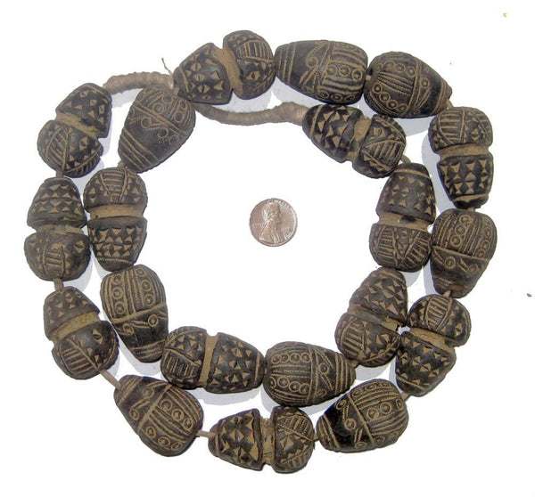 Mali Clay Spindle Cone Beads