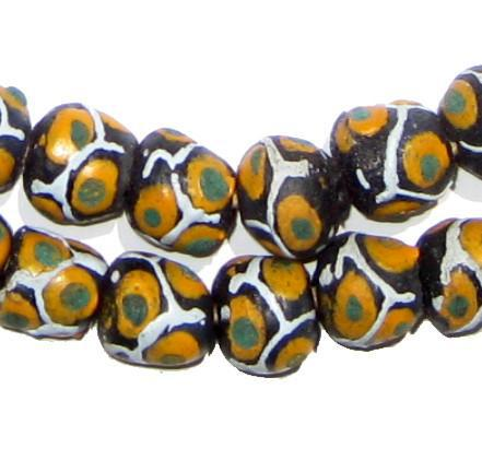 Eye Mosaic Krobo Powder Glass Beads - The Bead Chest