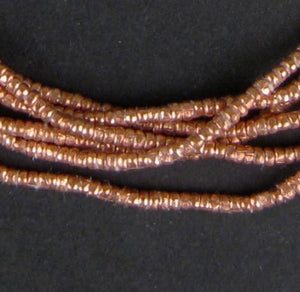 Copper Heishi Ethiopian Beads (2mm) - The Bead Chest