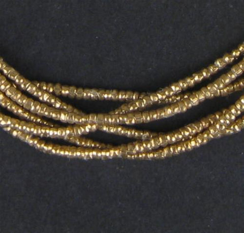 Image of Brass Heishi Ethiopian Beads (2mm) - The Bead Chest