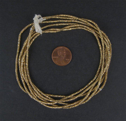 Brass Heishi Ethiopian Beads (2mm) - The Bead Chest