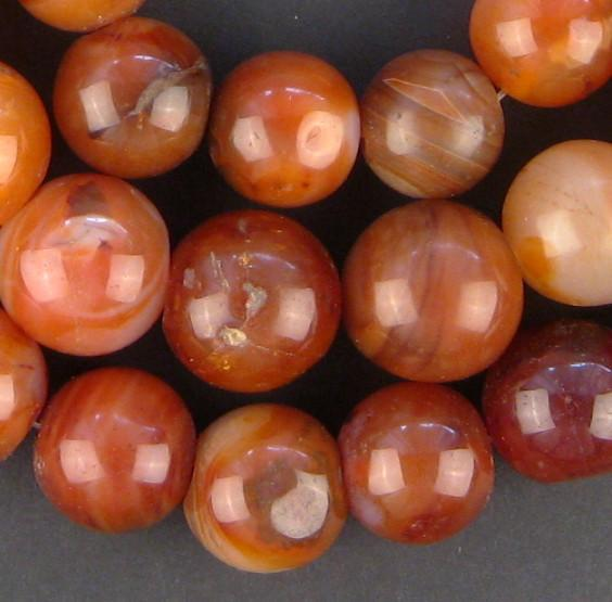 Large Authentic Nigerian Carnelian Beads - The Bead Chest