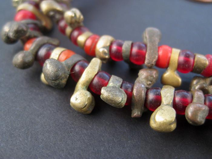 Antique Nigerian Brass Beads - The Bead Chest