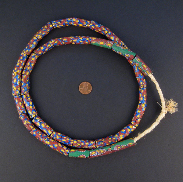 Old Matching Venetian Millefiori African Trade Beads (Long Strand)