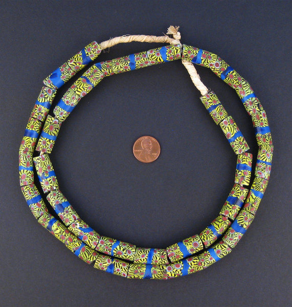Antique Venetian Millefiori African Trade Beads (Long Strand) - The Bead Chest