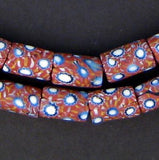 Blue & Maroon Antique Venetian Millefiori African Trade Beads (Long Strand) - The Bead Chest