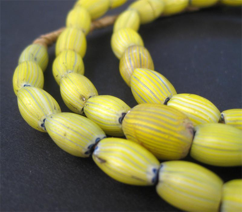 Antique Venetian Yellow Onion Beads (Long Strand) - The Bead Chest