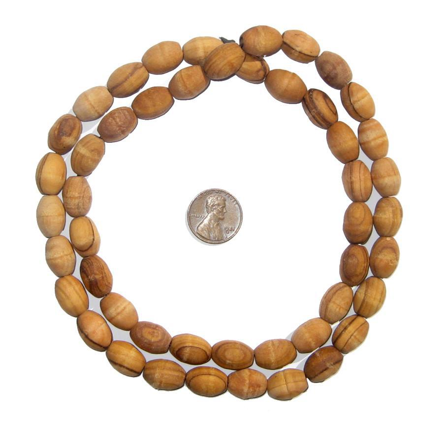 Authentic Rosary Olive Wood Beads from Bethlehem (14x10mm) - The Bead Chest