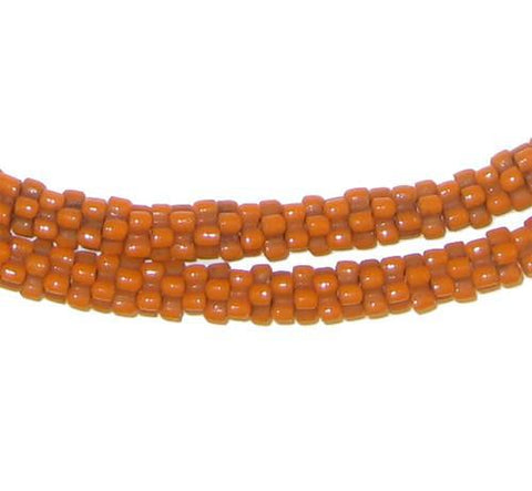 Orange Star Snake Beads - The Bead Chest